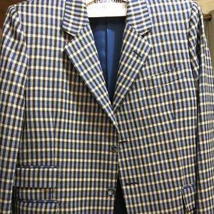 Bespoke, fine Italian wool men's blazer